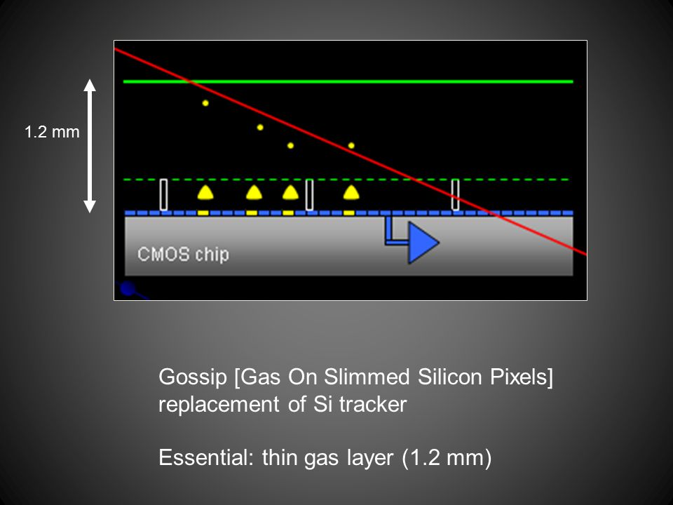 Gossip [Gas On Slimmed Silicon Pixels] replacement of Si tracker